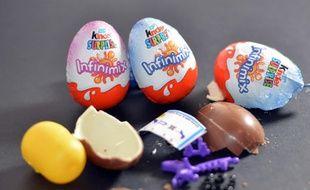 Photo illustration d un chocolat Kinder surprise