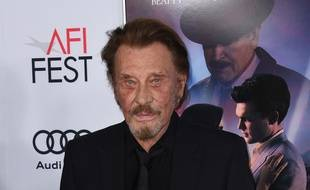 Le chanteur Johnny Hallyday à Los Angeles