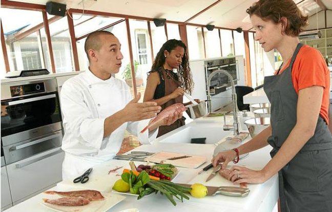Cours de cuisine au Saint-James à Bouliac mené par Nicolas NGuyen