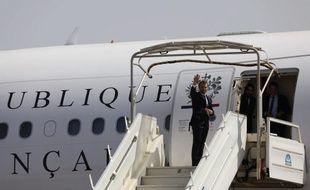 Emmanuel Macron et l'avion présidentiel