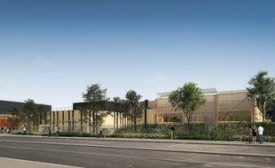 Image de synthèse du projet de restructuration du collège Toulouse-Lautrec à Langon (Gironde)