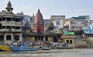 La ville sainte de Varanasi, en Inde.