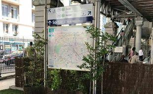 La station La Motte-Picquet-Grenelle végétalisée pour la Fête de la nature.