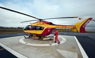 Illustration d'un hélicoptère de la sécurité civile.