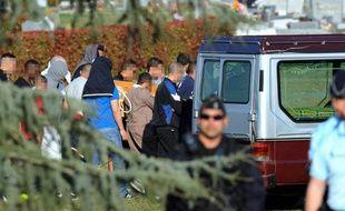 Inhumation de Mohamed Merah le 29 mars 2012 au cimetière de Cornebarrieu, en banlieue toulousaine
