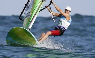 Charline Picon à l'épreuve de planche à voile