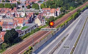 L'accident a eu lieu dans le quartier Saint-Maurice, à Lille.