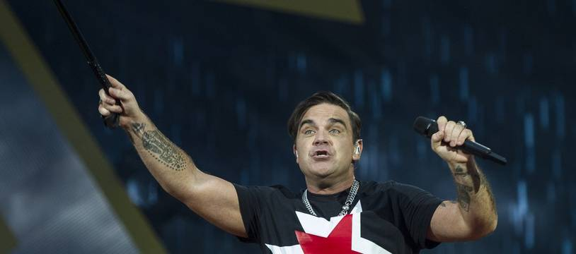 Le chanteur Robbie Williams