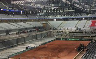 Le stade Piere Mauroy se transforme pour la coupe Davis