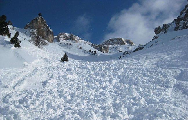 Illustration d'une avalanche.