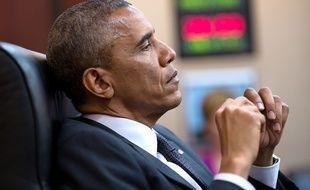 Barack Obama dans la Situation Room de la Maison Blanche, le 28 juillet 2014