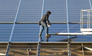 Illustration de panneaux solaires