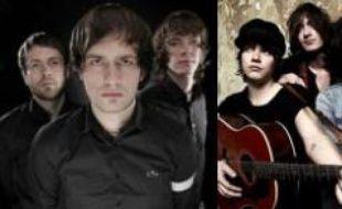 De gauche à droite les trois teen-groupes de rock: In Case Of Fire, The View et You Me at Six