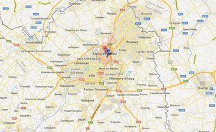 Google Maps de Marcq-en-Baroeul (Nord).