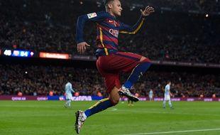 le Brésilien du FC Barcelone Neymar, le 14 février 2016, au Camp Nou, contre le Celta Vigo.