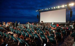 Illustration d'un séance de cinéma en plein air