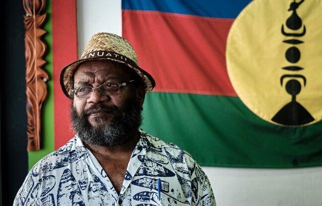 Victor Tutugoro, porte-parole du FLNKS, président de l'Union progressiste en Mélanésie (UPM) et vice-président de la Province Nord de la Nouvelle-Calédonie.