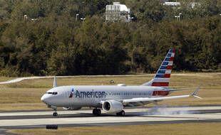 Un Boeing 737 Max de la compagnie American Airlines le 19 janvier 2021.