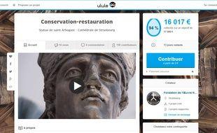 Le projet de restauration de la statue Arbogast de Strasbourg sur Ulule.