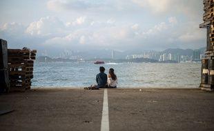 Un couple sur le port d'Hong-Kong (image d'illustration).