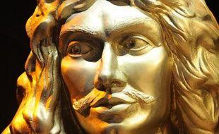 Le buste de Molière, ici photographié le 26 avril 2014, préside à la cérémonie des Molières du théâtre