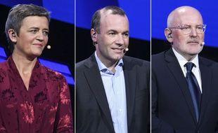 La Danoise Margrethe Vestager, l'Allemand Manfred Weber et le Néerlandais Frans Timmermans sont candidats à la succession de Jean-Claude Juncker à la tête de la Commission européenne.