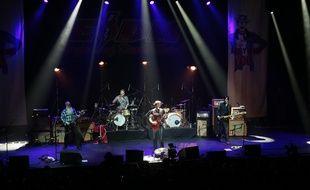 Le groupe Eagles of Death Metal a donné un concert à l'Olympia, trois mois après l'attentat du Bataclan, le 16 février 2016.