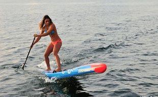 Olivia Piana en Stand Up Paddle