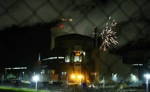 Des militants de Greenpeace se sont introduits a l'intérieur du périmètre de la centrale nucleaire de Cattenom, en Moselle, en octobre 2017.