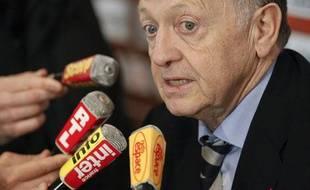 Le président lyonnais Jean-Michel Aulas, le 20 mars 2011, à Lyon.