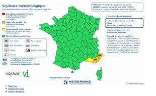 Carte de Météo France.
