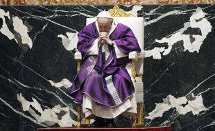 Le pape François lors d'une messe au Vatican, le 17 février 2021.
