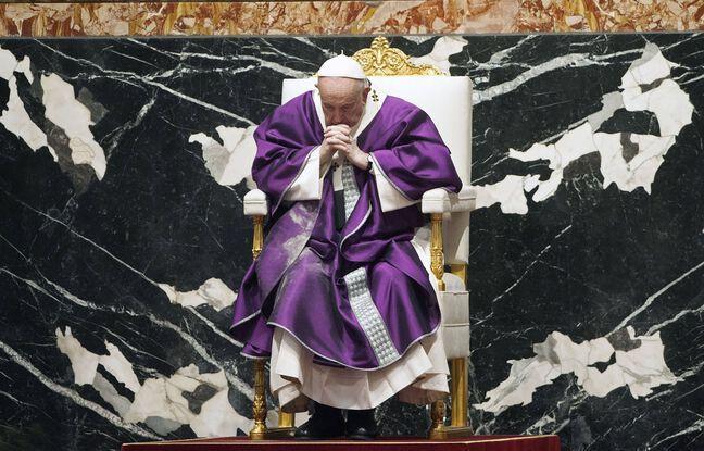 648x415 le pape francois lors d une messe au vatican le 17 fevrier 2021