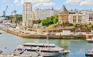 Vue de la ville de Brest, dans le Finistère.