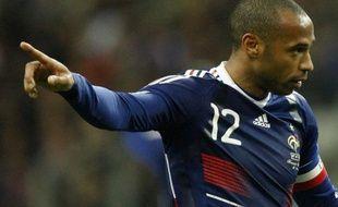 L'attaquant de l'équipe de France, Thierry Henry, lors du match face à l'Irlande au Stade de France, le 18 novembre 2009.