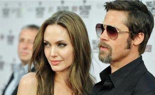Angelina Jolie et Brad Pitt, le 10 août 2009, à Los Angeles (Californie).
