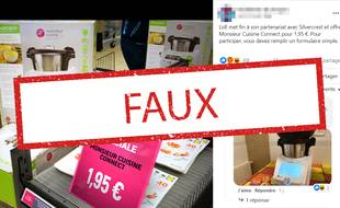Sur cette publication Facebook, un faux compte usurpant l'identité de la marque Darty propose une fausse promotion. C'est une arnaque - Capture d'écran