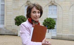 La ministre des Affaires sociales, Marisol Touraine, à la sortie du Conseil des ministres le 8 octobre 20104 à l'Elysée à Paris