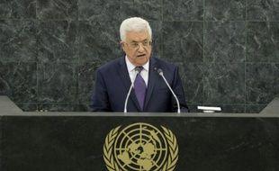 Le président palestinien Mahmoud Abbas à la tribune des Nations Unies, le 26 septembre 2013 à New York