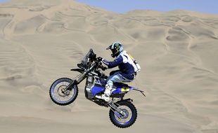 Le nordiste Adrien Van Beveren sur le rallye Dakar.