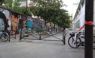 La rue Henri-Noguères  (Paris 19e) où dimanche l'assaillant a attaqué des passants au couteau. Le 10 septembre 2018