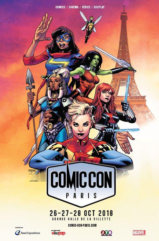 L'affiche du Comic Con Paris 2018