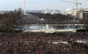 La foule attend Barack Obama pour sa seconde investiture, le 21 janvier 2013.