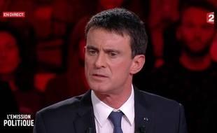 Manuel Valls, sur le plateau de «L'Emission politique».