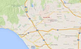 Localisation de Beverly Hills à Los Angeles.