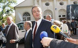 Le candidat du Front National aux élections cantonales à Brignoles, Laurent Lopez, le 13 octobre 2013.