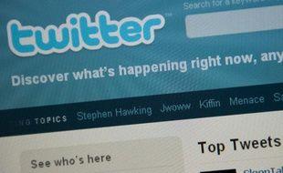 La page d'accueil de Twitter le 3 septembre 2010.