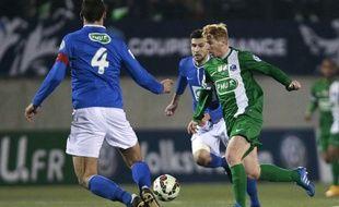 Samuel Robail (en vert) et les Croisiens pourraient bien aller jouer à Saint-Etienne