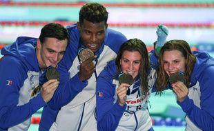 Clément Mignon, Mehdy Metella, Charlotte Bonnet et Marie Wattel ont remporté le bronze du relais mixte lors des Mondiaux de Gwangju.