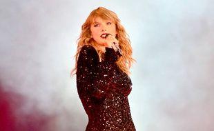 La chanteuse Taylor Swift lors de sa tournée Reputation